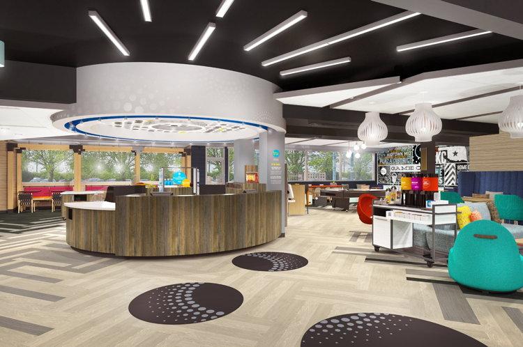 Tru by Hilton - Lobby design