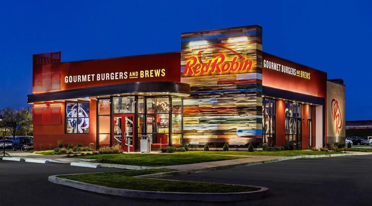 A Red Robin Gourmet Burgers restaurant exterior