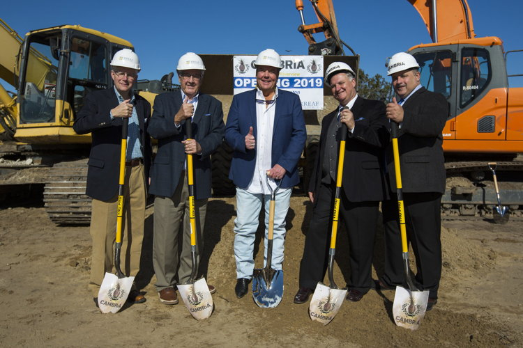 Image from ground breaking ceremnoy for Cambria Hotels in Charleston, S.C.