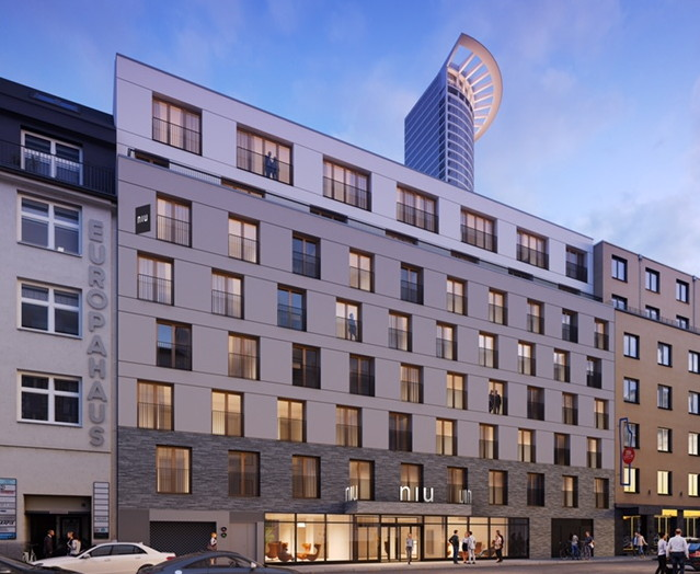 Rendering of the niu Charly Hotel Frankfurt