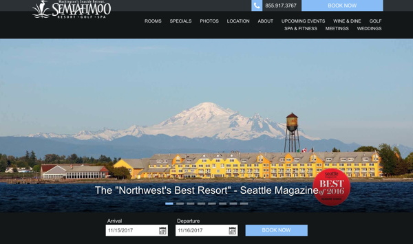 Screenshot - Semiahmoo website