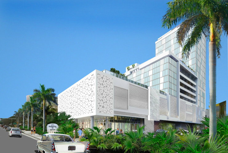 Rendering of the Residence Inn Miami Sunny Isles Beach
