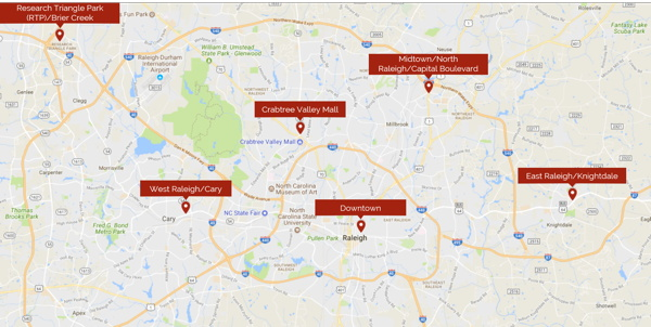 Map - Hotel Supply Raleigh