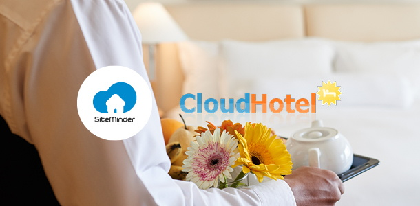 SiteMinder and Cloud-hotel logos