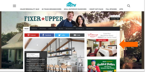 Screenshot - HGTV website