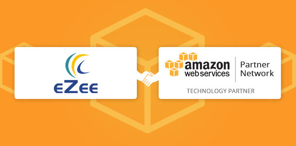 EZee Hospitality and AWS logos