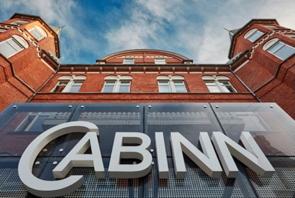 A Cabinn Hotel sign