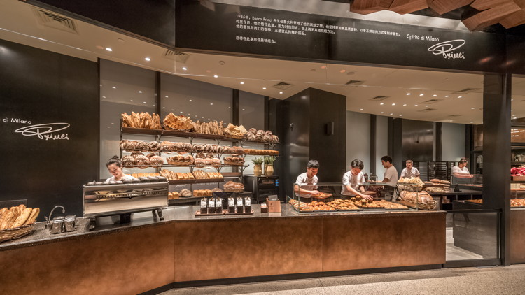 Italian bakery Princi at the Starbucks Reserve Roastery in Shanghai, China