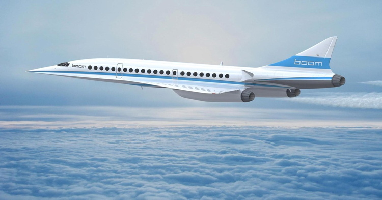 Rendering of the Boom Supersonic Aircraft