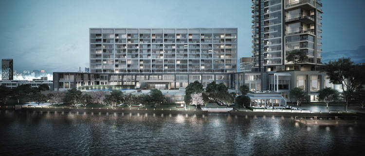 Rendering of the Capella Bangkok Hotel