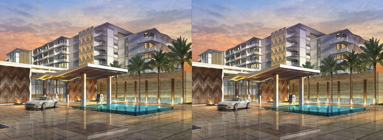 Rendering of Two New Hilton Branded Hotels in Cancun