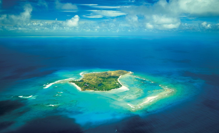 Necker Island in the British Virgin Islands - Aerial view