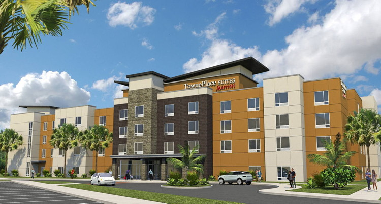 Rendering of the TownePlace Suites by Marriott Charleston Airport/Convention Center