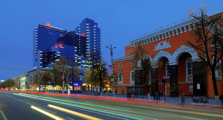 Voronezh Marriott Hotel - Street view