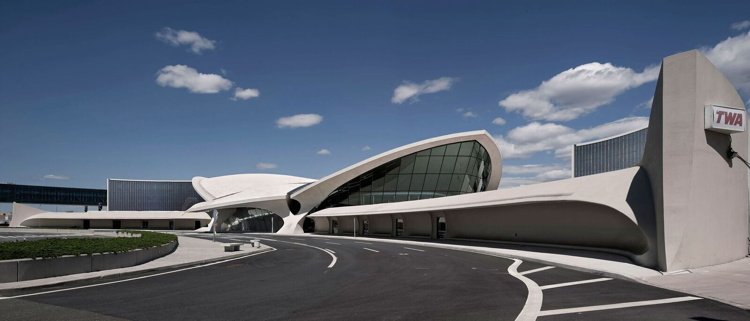 Rendering of the TWA Hotel at JFK International Airport