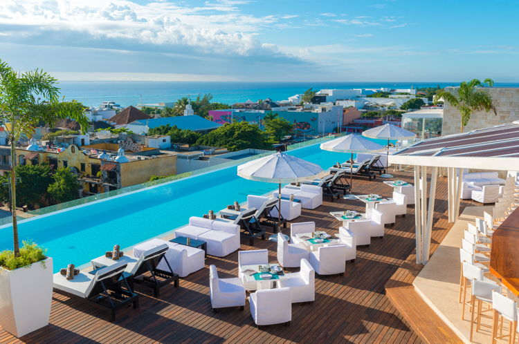 The Fives Downtown Hotel & Residences in Playa Del Carmen - Rooftop Pool