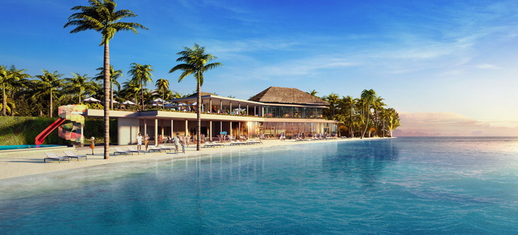 Rendering of the Hard Rock Hotel Maldives