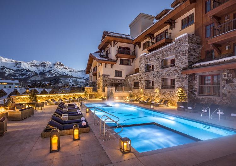 The Madeline's Sky Terrace pool deck