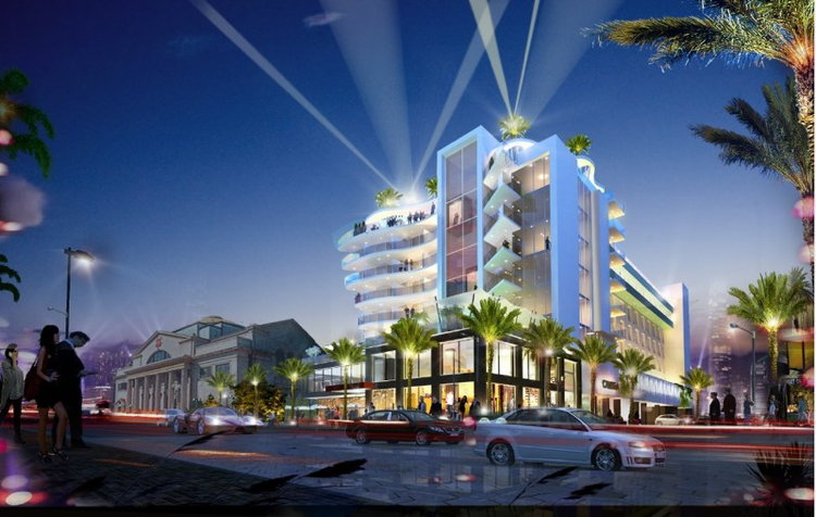 Rendering of the Cambria Hotel Orlando