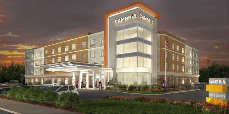 Rendering of the Cambria Hotel Westfield