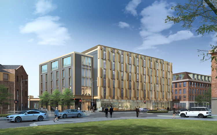 Rendering of the DoubleTree by Hilton Hull Hotel in the U.K.