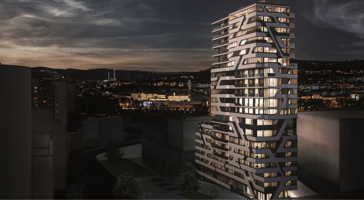 Rendering of the Jaz Stuttgart Hotel