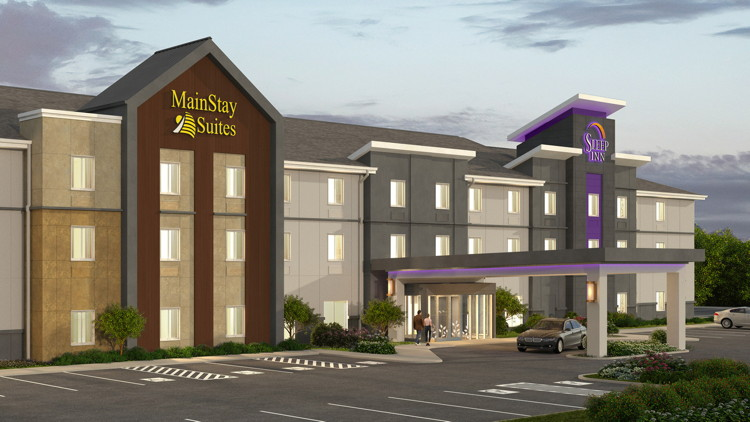 Rendering of the Sleep Inn and Mainstay Dual-Branded Hotel at The St. Louis Airport
