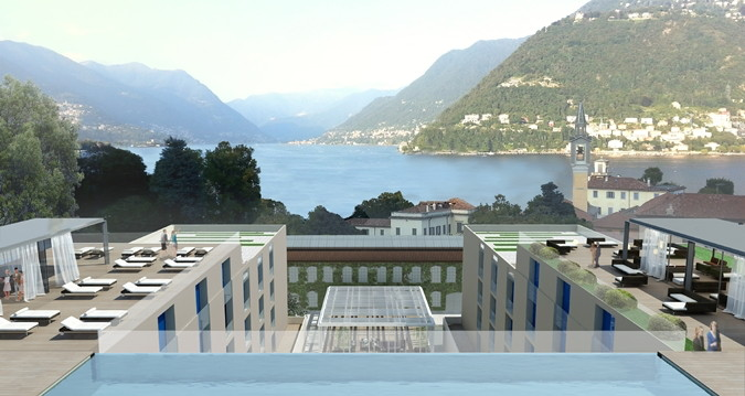 Rendering of the Hilton Lake Como Hotel