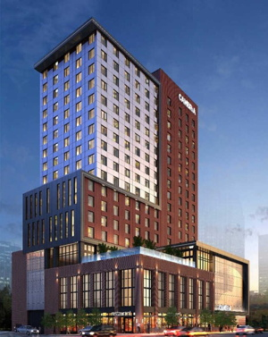 Rendering of the Cambria Hotel Nashville Opens