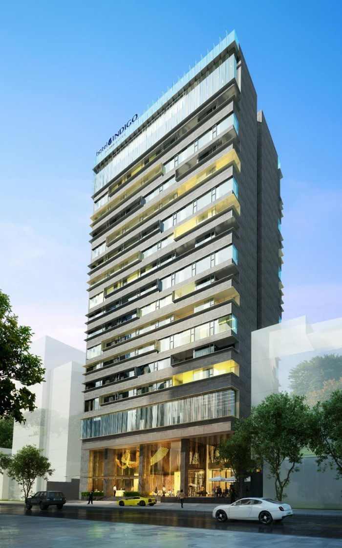 Rendering of the Hotel Indigo in Ho Chi Minh City