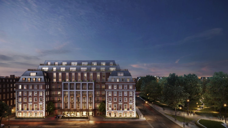 Rendering of the Twenty Grosvenor Square, a Four Seasons Residence in London