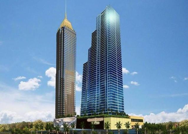 Rendering of the Grand Hyatt Manila Hotel