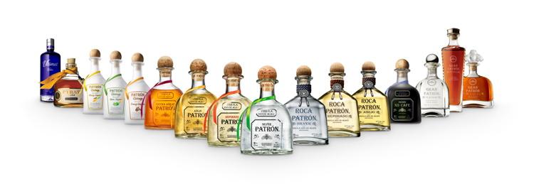 Patrón Tequila bottles