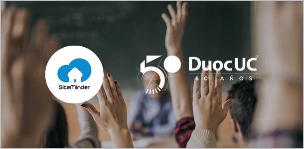 SiteMinder and Duoc UC logos