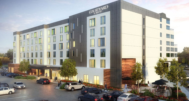 Rendering of the Courtyard by Marriott Minneapolis West
