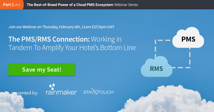 Promotional image for StayNTouch Webinar Series