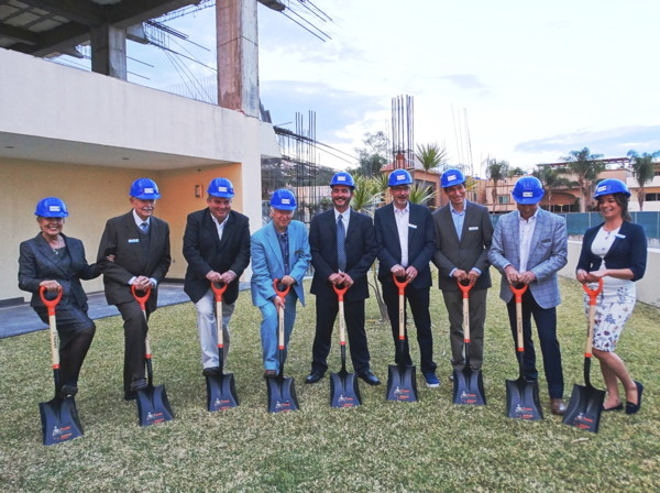 Pictured from left to right: Delia O'Rourke, Ricardo, O'Rourke, Mayor Javier, Degollado, Federico Rangel, Omar O'Rourke, Thomas Wahl, Eduardo Hernández, Roland Mouly, Centeya Canales.