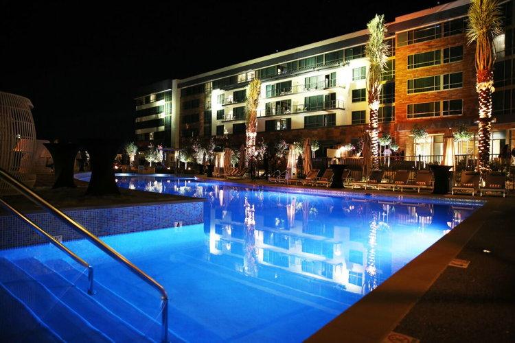 Willows Hotel & Spa Tower at Viejas Casino & Resort - Exterior at night