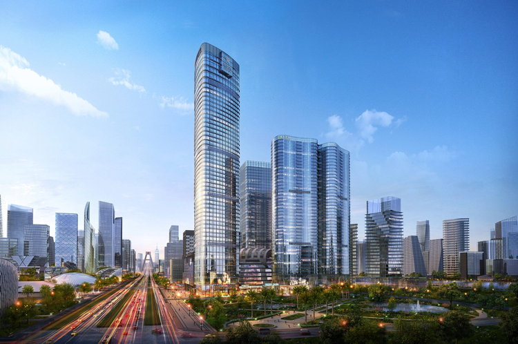 Rendering of the Waldorf Astoria Chengdu