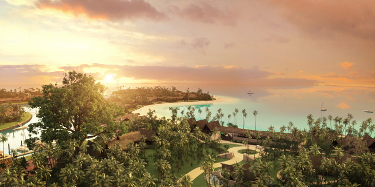 Rendering of the Six Senses Fiji
