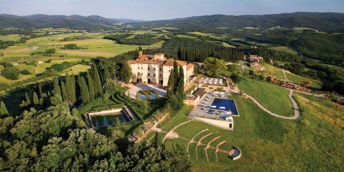 Castello Di Casole - Aerial View