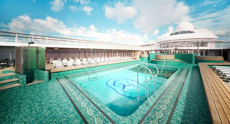 Rendering of the Seven Seas Mariner's pool deck