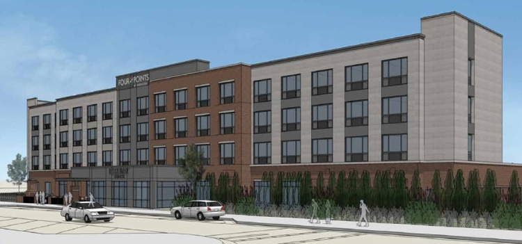Rendering of the Four Points by Sheraton Milwaukee Airport - Source Salita Development