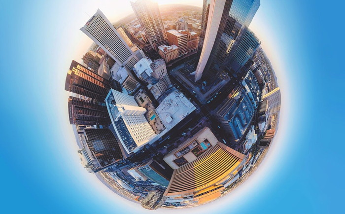 11 Stitched GoPro images from downtown phoenix. Photo by AJ Colores on Unsplash