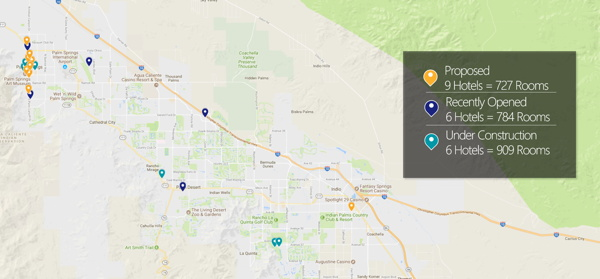 Map - Proposed Hotel Supply Palm Springs