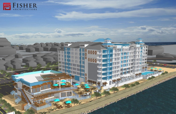 Rendering of the Cambria Hotel Ocean City Hotel