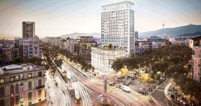 Rendering of the Residences by Mandarin Oriental Barcelona