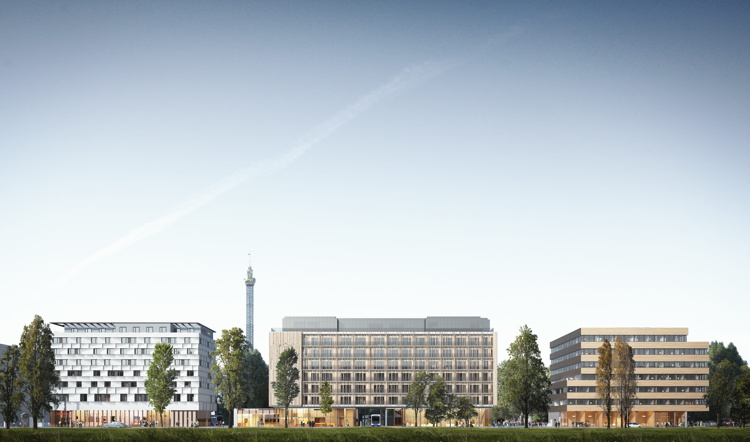 Rendering of the Hampton by Hilton Vienna Messe