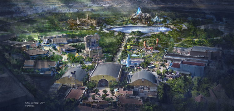 Rendering of Disneyland Paris
