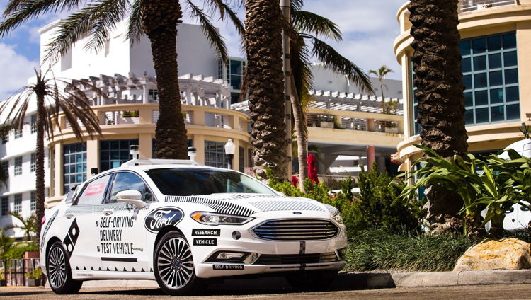 Domino's and Ford Begin Second Round of Self-Driving Delivery Vehicle Testing in Miami